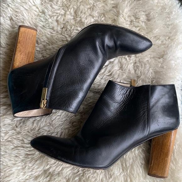 4eb3918d201 Yves Saint Laurent Shoes | Ysl Black Booties Wooden Heel | Poshmark